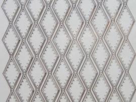 st633- borduursticker zilver 10x20cm