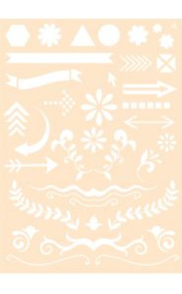 6002/0860 - Joy! crafts embossing achtergrondstencil poly-besa  - A6 no. 4
