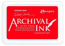 CE306014/1399- Ranger archival ink pad - carnation red