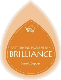 132019/1094- brilliance stempelkussen dew drops cosmic copper 3.5x5cm