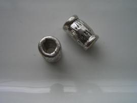 2 x metalen kralen 12028-0011