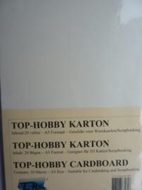 11- 20 vellen kaartkarton A5 formaat voor dubbele kaarten ca.225grams ivoor
