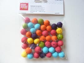 KN.2663155- 40 stuks wattenballen van 15mm kleurenmix