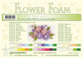 CE800205/4292- 10 sheets flower foam sheets A4 - pastelgroen