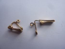 OPRUIMING - 00003 - 1 paar oorclips goudkleurig met oogje