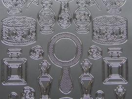 242- diverse afbeeldingen zilver 10x20cm