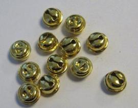 4312 - 12 stuks belletjes van 13 mm. goudkleur