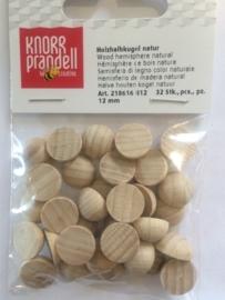 KN8616 812- 32 stuks halve houten ballen zonder gat 12mm