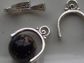 117465/0896- zwaar metalen tussenzetsel om kralen aan te hangen 16mm