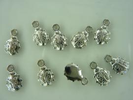 CH.6370.100- 100 stuks bedels lieveheersbeestjes van 13x8mm OPRUIMING
