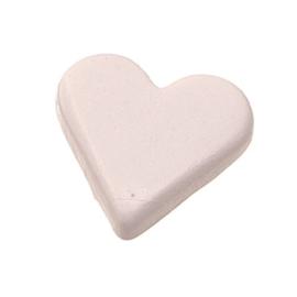 6258 000- 25 stuks snaps eyelets hartjes wit van 8x10mm