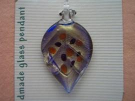 12042/4218- handgemaakte glashanger goudblad met spikkel
