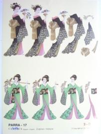 """kn/494- A4 knipvel """"parra"""" no.17 japans"""