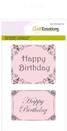 CE130501/1012- clearstamps A6 happy birthday botanical