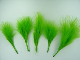 ruim 100 stuks (18 gram) verentoefjes van 7 tot 10cm lang lichtgroen