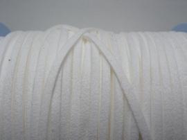 3 meter imitatie suede veter van 3mm breed wit