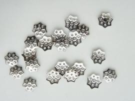 6mm kralenkapjes 20 stuks staalkleur - SUPERLAGE PRIJS!- CN.075.Y