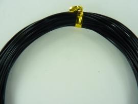 CH.10x01- 10 meter aluminiumdraad (Wire&Wire draad) van 1mm zwart