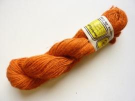 000403- 100gram jute touw 1-draads 1-2mm dik oranje