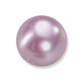25 x ronde glasparels in een doosje 8mm roze/paars - 2219 727