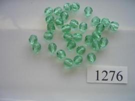 30 stuks tsjechische kristal facet geslepen glaskralen mintgroen 6x5mm 1276