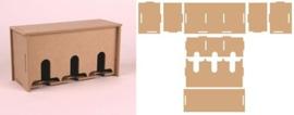 CE813092/3740- Pronty MDF teabox 21.5x8.5x11cm