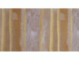 KN218301419- kaarsen versierwas plaatje 17.5x8cm glanzend herfstkleuren