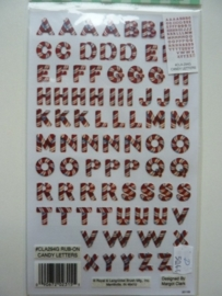 005044.D- Rub-on transfer candy letters 24x14cm OPRUIMING