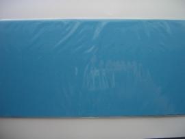 08158- 5 x luxe vierkanten kaarten linnenstructuur 13.5x13.5cm licht blauw SPECIALE AANBIEDING
