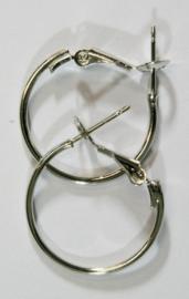 117450/5401- 2 stuks Creolen oorringen platinum 1.2x20mm