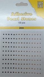 CE142010/2205- 150 stuks zelfklevende halfronde parels van 2mm goud tinten