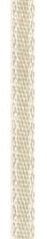 006302/0251- 4.5 meter satijnlint van 10mm breed op een rol creme