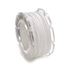 002290/0300- 10 meter waxcord met nylonkern wit 0.6mm dik