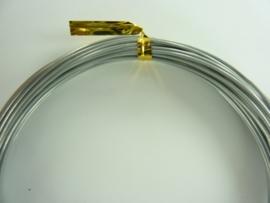 CH.10x21- 10 meter aluminiumdraad (Wire&Wire draad) van 1mm lichtgrijs