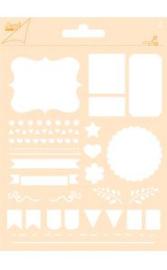 6002/0854 - Joy! crafts embossing achtergrondstencil poly-besa - vlaggen