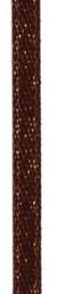 006302/0257- 4.5 meter satijnlint van 10mm breed op een rol bruin