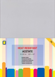 CE115632/1030- 10 stuks transparante sheets A4 - hittebestendig