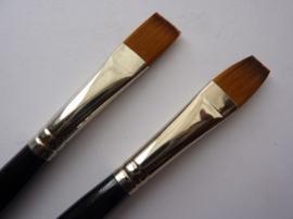 PS223- Royal Knight langnickel nylon penseel plat -1/2-