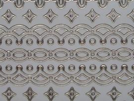 st727- sticker met diverse randjes van 10-15mm breed ivoorwit 10x20cm