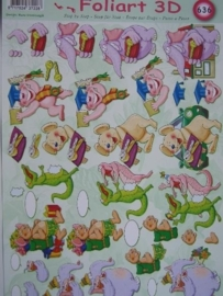 kn/534- A4 knipvel AANBIEDING foli art no.636 feest