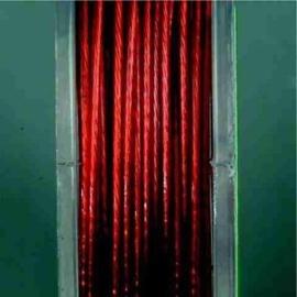 10 meter staalkabel kleur 1007 rood