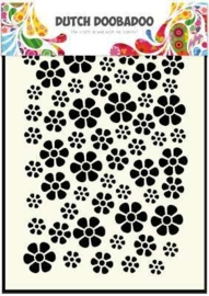 CE185071/5040- Dutch Doobadoo Dutch mask art stencil bloemen A5