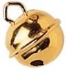 008605 602- 5 stuks kattenbelletjes van 9mm goudkleur AA