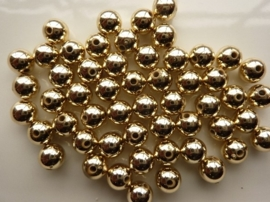 2192- ca. 50 stuks kunststof parels 8mm goud - SUPERLAGE PRIJS!