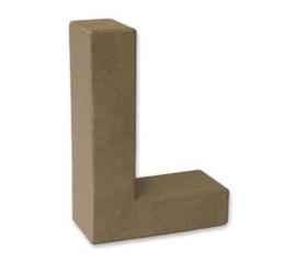 1929 3112- stevige decoratie letter van papier mache - 3D letter L