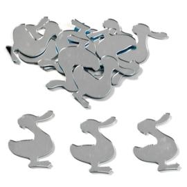 8002 556- 12 stuks spiegelornamentjes eendjes zelfklevend 3cm