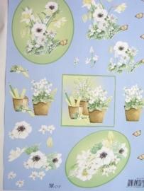 kn/558- A4 Mop knipvel AANBIEDING bloemen en planten