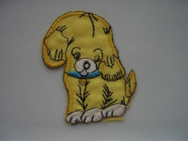 A308- strijk applicatie hondje ca. 7cm AANBIEDING