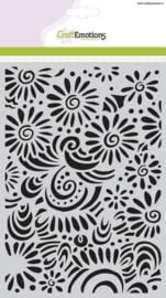 CE185070/1104- Craft emotions mask stencil bloemen A5