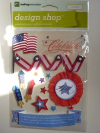 """005837- design shop 3D stickers """"prijs"""" OPRUIMING"""